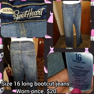 Size 16 long bootcut jeans